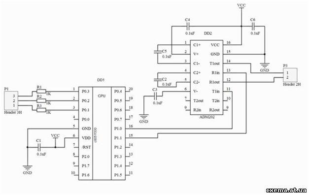Adm3202 схема включения