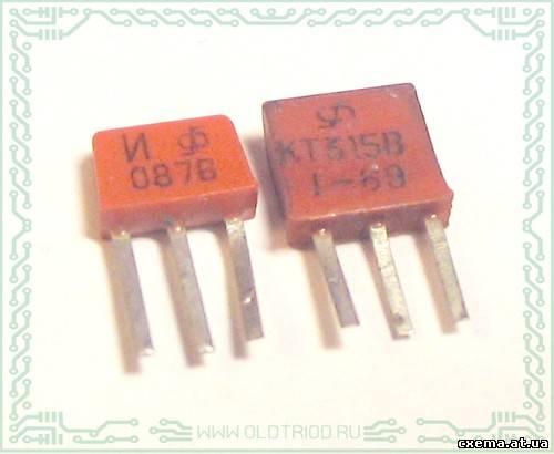 КТ315И слева и КТ315В справа т.е. самое основное - это корпус.  Такое корпус, насколько мне известно только у КТ315 и...