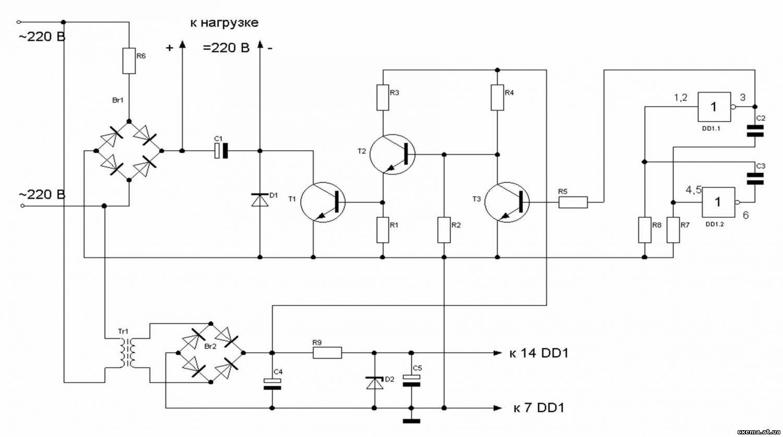 Схемы электронного счетчика электроэнергии