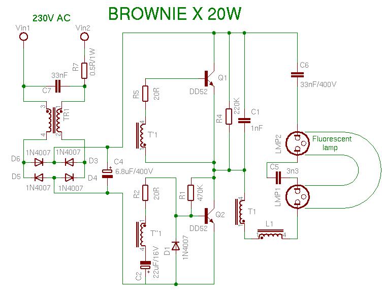 Schema BrownieX 20W