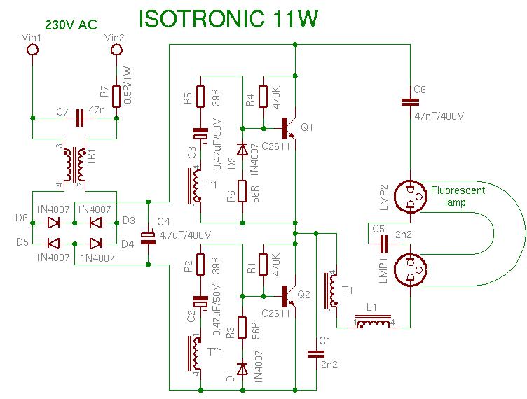 Schema Isotronic 11W