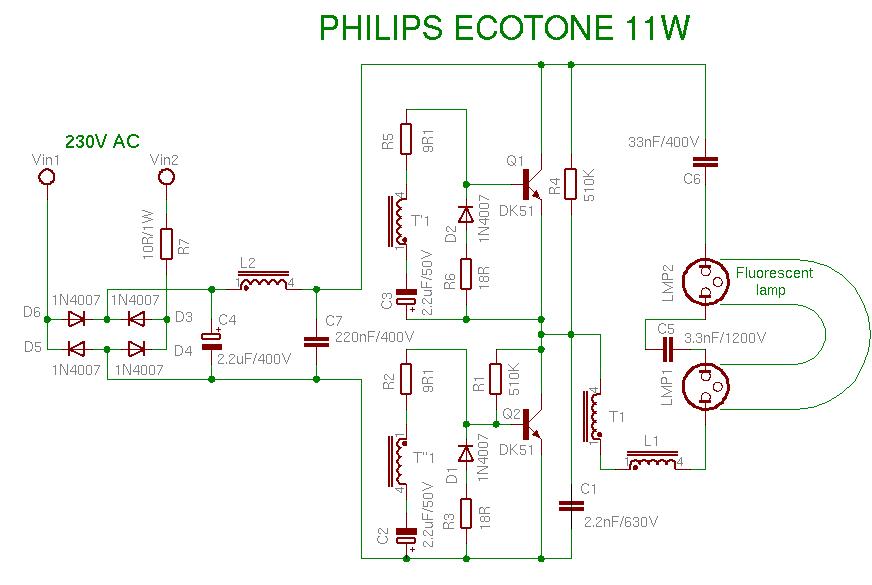 Schema Philips 11W