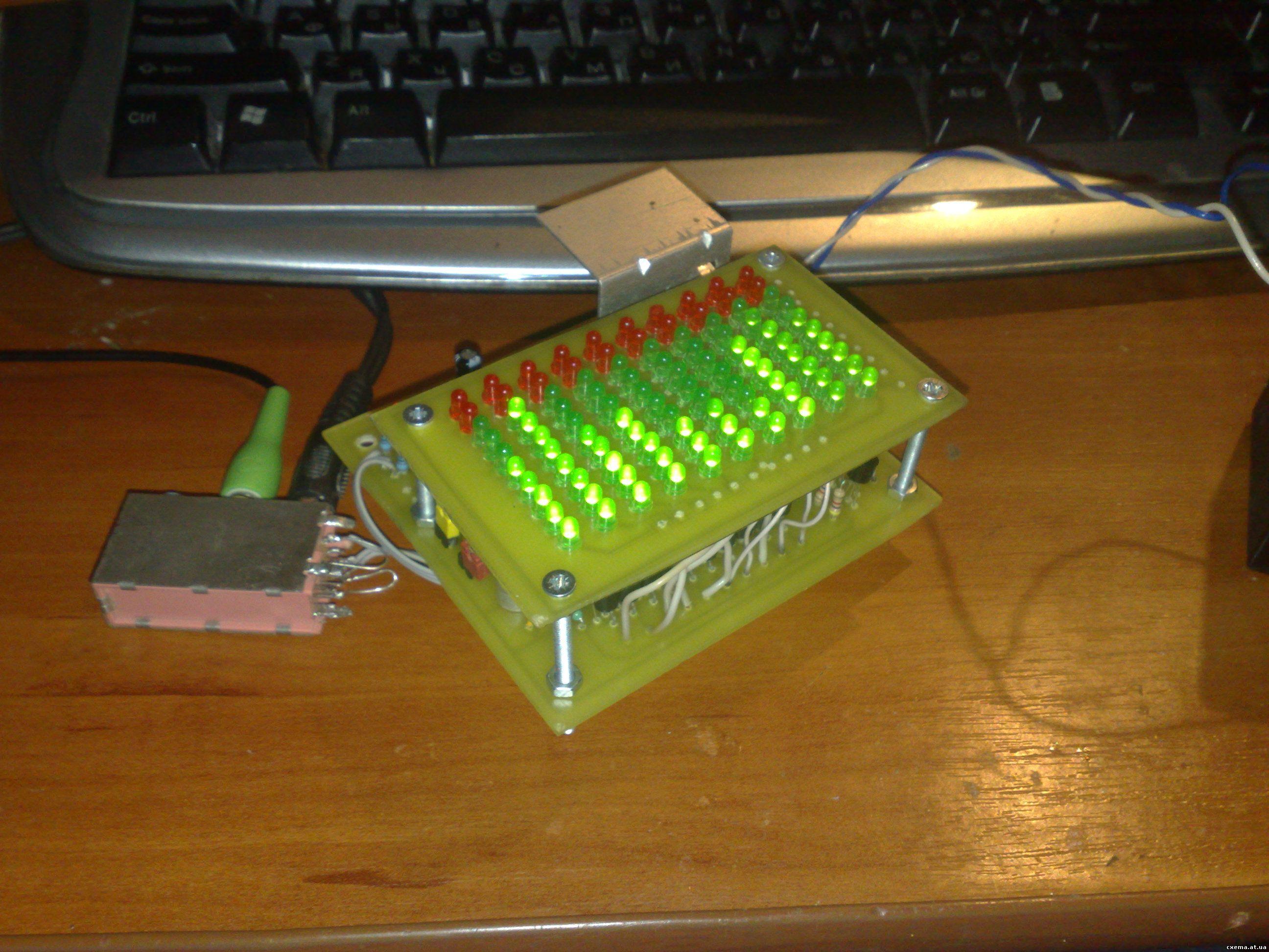 Аудио анализатор спектра схема 31 фотография