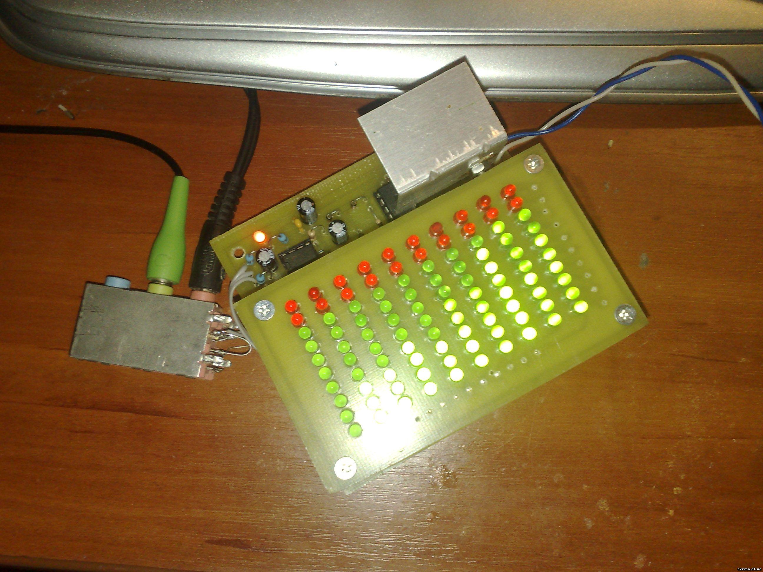 Светодиодный эквалайзер своими руками схема