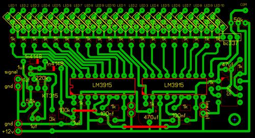 микросхемы (две LM3915 для